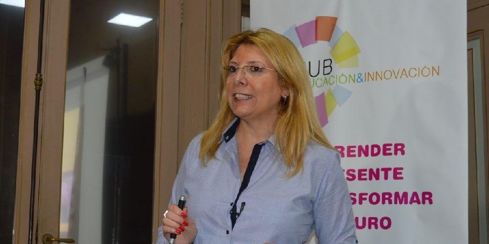 Melania Ottaviano, en una charla online sobre innovación educativa y transformación del rol docente