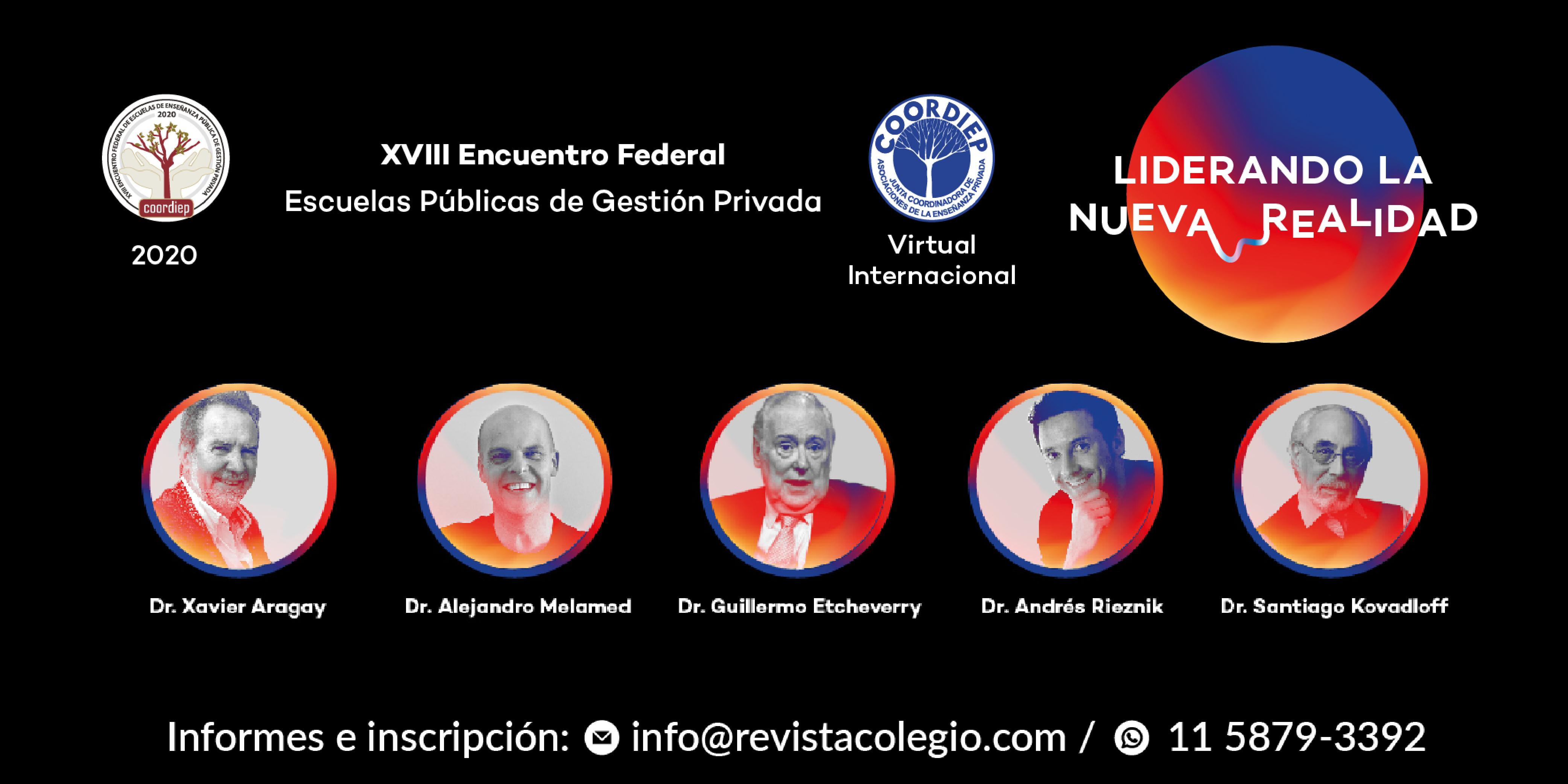 Kovadloff, Jaim Etcheverry, Rieznik y Melamed invitan al XVIII Encuentro de Coordiep